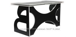 Классный Геймерский стол игровой Barsky HG-06 чёрный с белой кромкой