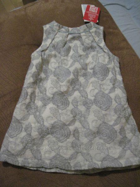 Новое красивое вышитое платье- сарафанчик, р. 68 Германия