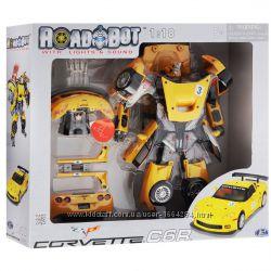 Уценка Робот-трансформер Roadbot Chevrolet Corvette C6R 118 50150