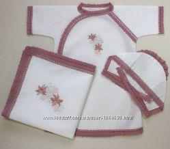 Крестильный набор Лилии  теплый вариант