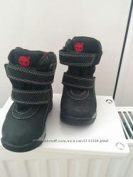 Детские осенне-зимние ботинки  сапожки Timberland из материала gor-Te