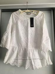 Хлопковая дышащая блуза. Прошва. Англия