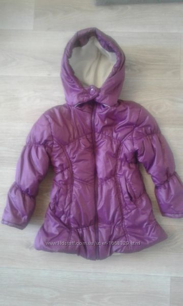 Тёплая деми куртка bombili на девочку 6-7 лет турция