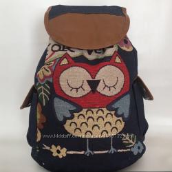 Женский тканевый рюкзак Сова