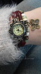 Кожаные женские наручные часы