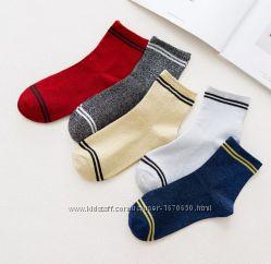 Блестящие носки с люрексом  носочки с металлическим отливом с полосками