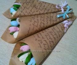 Оригинальный подарок Букет из конфет крокусы
