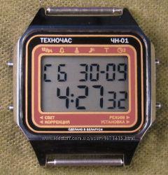 часы ЭЛЕКТРОНИКА ЧН-01 с АЦНХ 5 мелодий арт. 1146