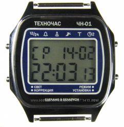 часы ЭЛЕКТРОНИКА ЧН-01 с АЦНХ 5 мелодий арт. 1167