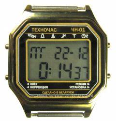 часы ЭЛЕКТРОНИКА ЧН-01 с АЦНХ 5 мелодий арт. 1162