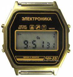 часы ЭЛЕКТРОНИКА ЧН-55 с ЦНХ 5 мелодий арт. 1079