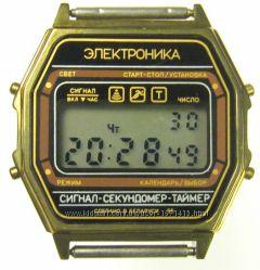 часы ЭЛЕКТРОНИКА ЧН-55 с ЦНХ 5 мелодий арт. 1156