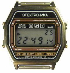 часы ЭЛЕКТРОНИКА ЧН-55 с ЦНХ 5 мелодий арт. 1163