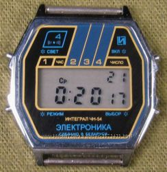 часы ЭЛЕКТРОНИКА ЧН-54 с ЦНХ 5 мелодий арт. 1155