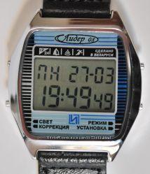 часы ЭЛЕКТРОНИКА ЧН-03 с АЦНХ 5 будильников, 5 мелодий арт. 1154