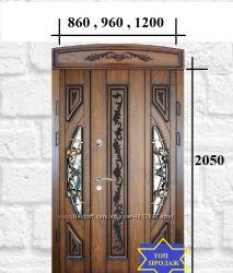 дверь елит входная с окном, патиной и ковкой бесплатная доставка