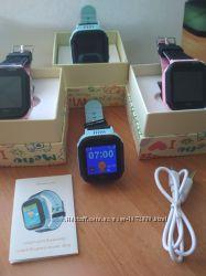 Детские умные смарт часы с камерой и фонариком Q528Q02 анлг. язык Q60, Q10
