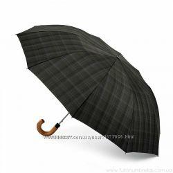 Мужской складной зонт Fulton Dalston-2 Charcoal Check G857