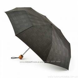 Зонт Fulton Stowaway Deluxe-1 Smoke Grey Check  L450