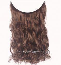 Трессы волосы на резинке затылочная прядь канекалон прямые волнистые цвета