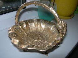Антикварная конфетница, ваза, бронза, Австрия