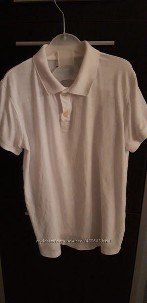 Фирменная поло футболка с коротким рукавом