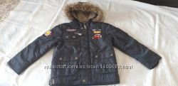 Фирменная теплая куртка Дисней Тачки  еврозима