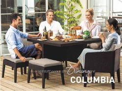 Садовая мебель, искусственный ротанг серии Columbia Dining 5 Pcs, 7 Pcs