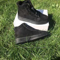 Ботинки криперы сапоги угги зимние чёрные 36, 37