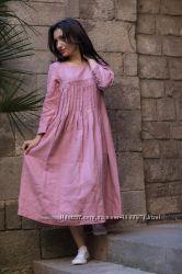Романтичное платье из льна в стиле бохо