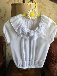 Красивая блуза для девочки 9 - 10 рост 140 см