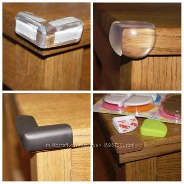 Уголки силиконовые, накладки на углы мебели для защиты детей