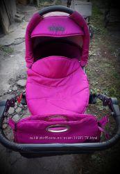 Коляска Tako Laret 2в1, розовая, малиновая, для девочки