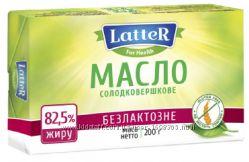 Масло сливочное без глютена и лактозы 82 Latter 200г Украина