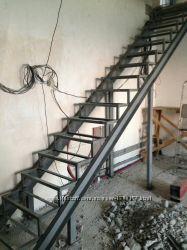 Изготовление каркасов лестниц под обшивку и открытые лестницы