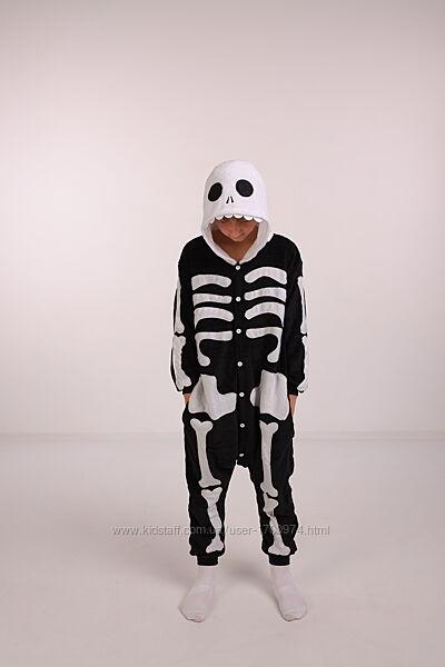Пижама кигуруми скелет костюм скелета Хэлоуин кігурумі скелет