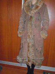 Дублёнка в стиле этно с вышивкой