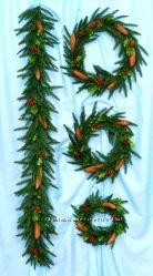 Новогодние Рождественские венки и гирлянды