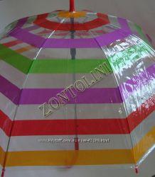 Прозрачные зонты-трости. Новые рисунки