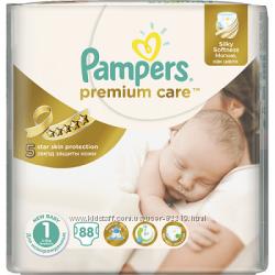 Подгузники Pampers Premium Care Newborn 2-5кг  88 шт.
