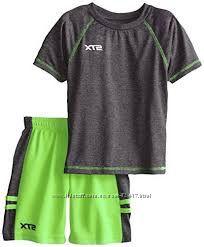 Летний спортивный комплект, шорты и футболка STX на 2-3года