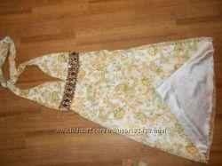 Эффектное летнее шифоновое платье