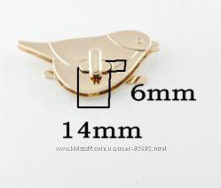 Застежка для сумки поворотная птичка замок для сумки фурнитура