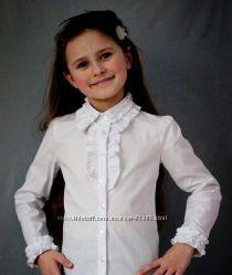 Школьные красивые блузки. Высокое качество. Хлопок
