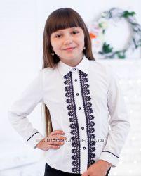 Школьные красивые блузы для девочек. Высокое качество. Хлопок. Цвета