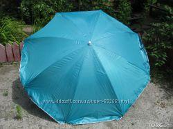 Пляжный зонт 1, 7м. диаметр с серебристым напылением