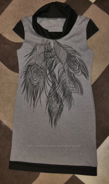 Стильное платье-туника р. 48