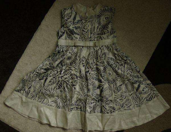 Стильное платье для девочки р. 116 бу