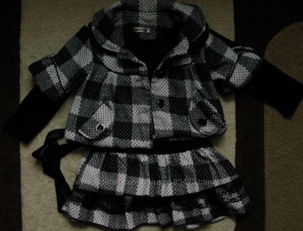 Стильное платье р. 116-122 бу с пиджаком