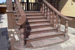 Лестницы, ступени, балясины из гранита